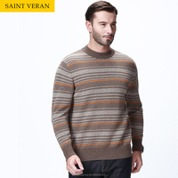SAINT VERAN lastest color combination custom knit sweater man