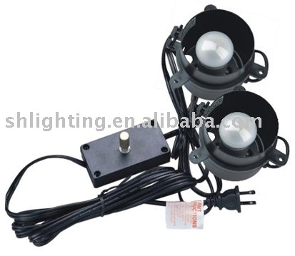 Double canister lights with dimmer switch