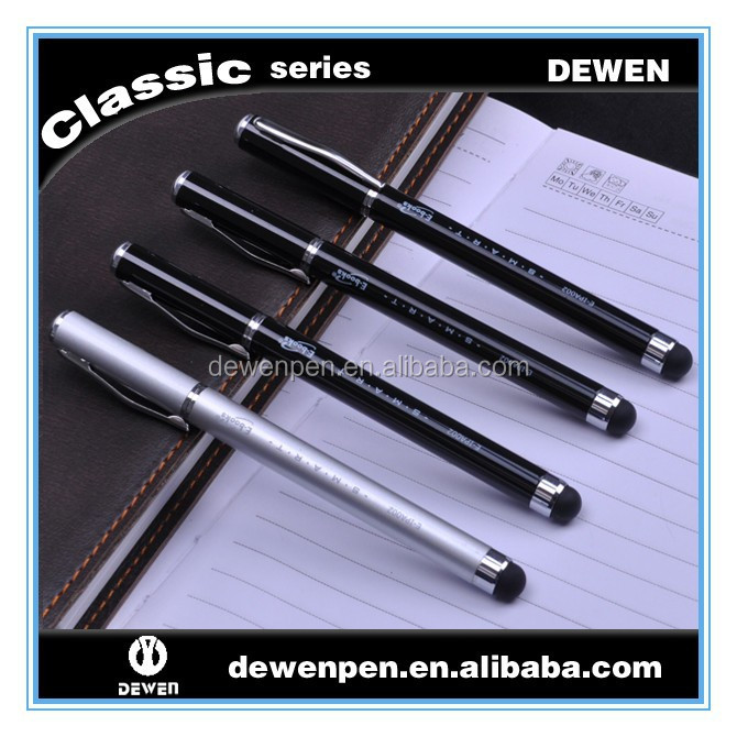 Imprinted personalized ballpen, customized rollerball pens stylus touch and pen as promotion gift
