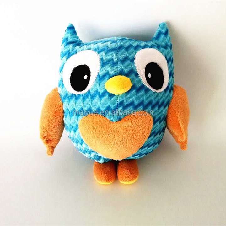 20CM High Quality Lovely Stuffed Owl Soft Toy /Striped fabric Plush Toys Owl
