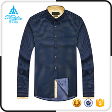 cotton formal business printed style dress shirts with button down collar