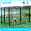 Dog kennel with roof welded wire mesh expandable dog fence