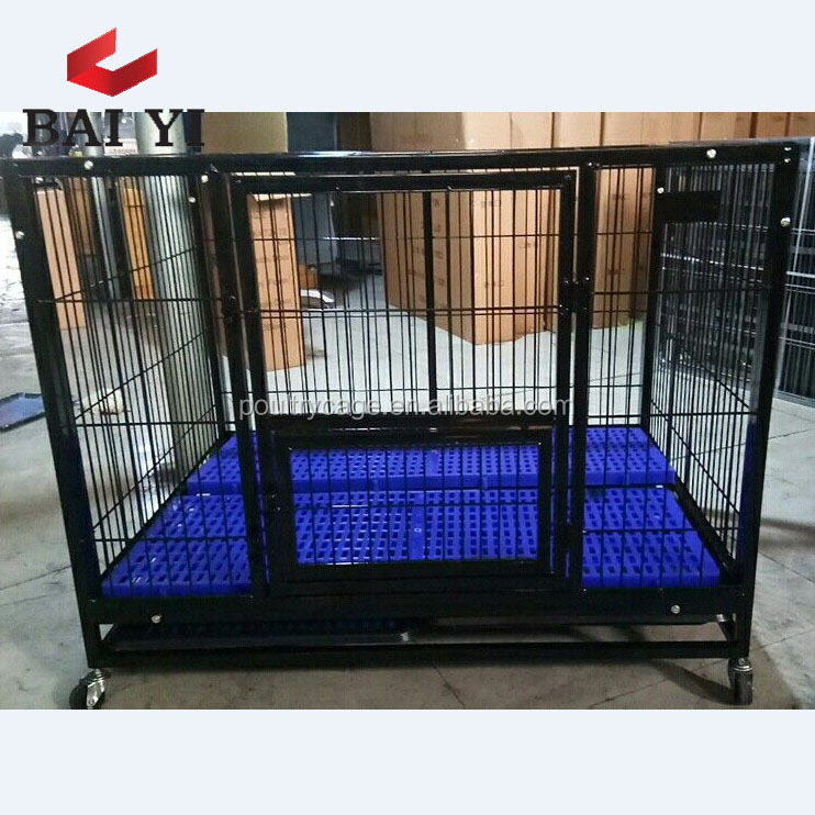 Folding Galvanized Dog Kennel And Dog Cage With Plastic Pallet