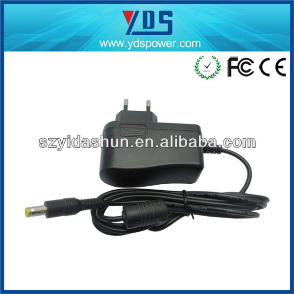 HOT!!china yidashun rca plug usb adapter for led , ac wall charger adapter for 9.5a 1a EU ac plug