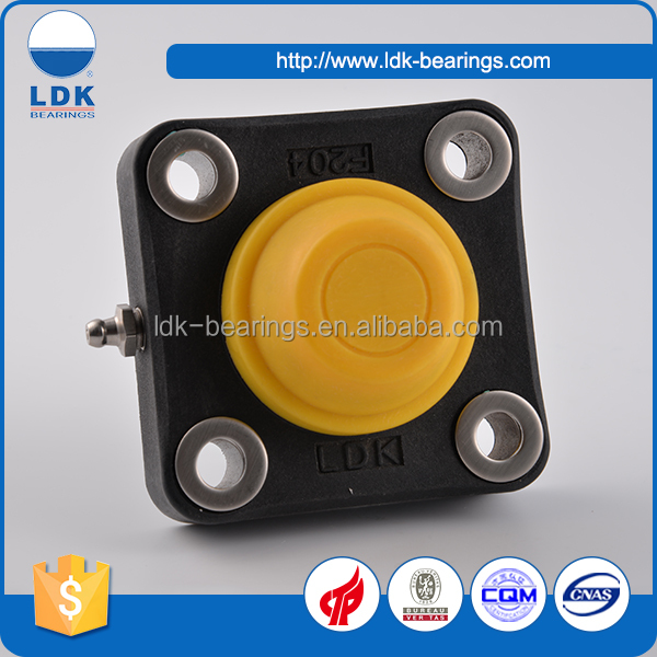Waterproof 4 bolt thermoplastic flange units plastic bearing
