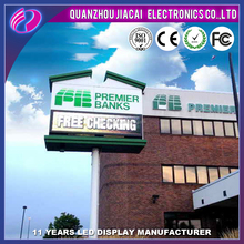 Outdoor p10 queue management system led signage display