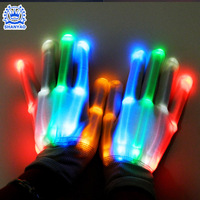 Hot Selling Factory Wholesale LED Halloween Glove For Luminous Gifts Concert Party Dancing And Festivals