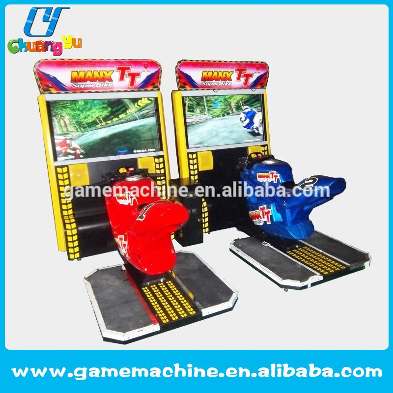 coin operated motorcycle racing car simulator game Luxury arcade 42 LCD TT motorcycle racing game machine