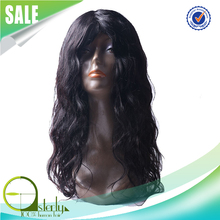 100% Natural human hair full lace wig, unprocessed indian women hair wig, super quality no synthetic wig