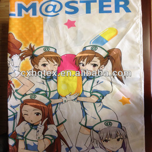 polyester fabric anime printed pongee fabric to make bedsheet to japan