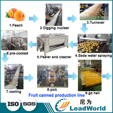 Small Peach Canning Production Line Machines