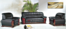 Throws Gray real leather sofa 1+2+3 seater design for hotel