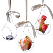 Glass Vase Hanging Teardrop Shaped Hand Blown Glass Vase
