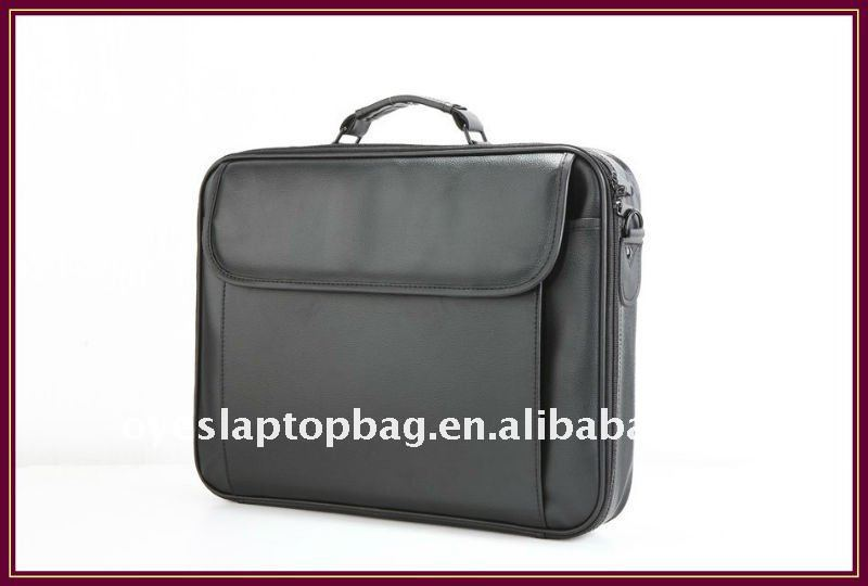 15.6 inch durable pu/ leather business laptop bag
