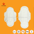 Female PE back sheet cotton sanitary pad brands