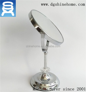 Two sides standing up two way table cosmetic mirror
