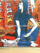 High Quality India Girl Abstract Oil Painting For Decor