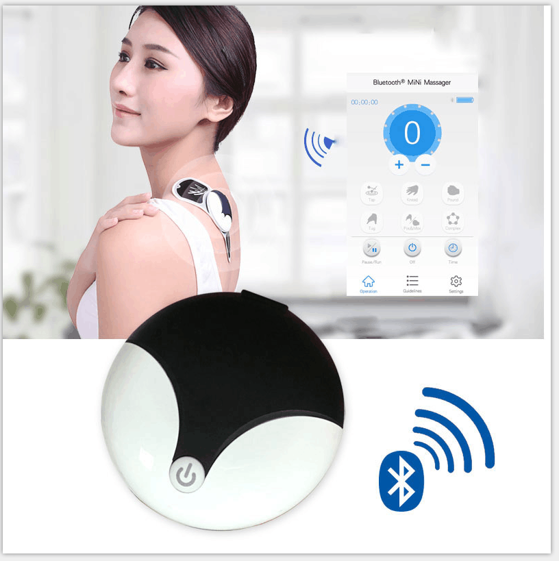 Anywhere anytime Wireless Bluetooth mini massager muscle full body tens Pulse massager