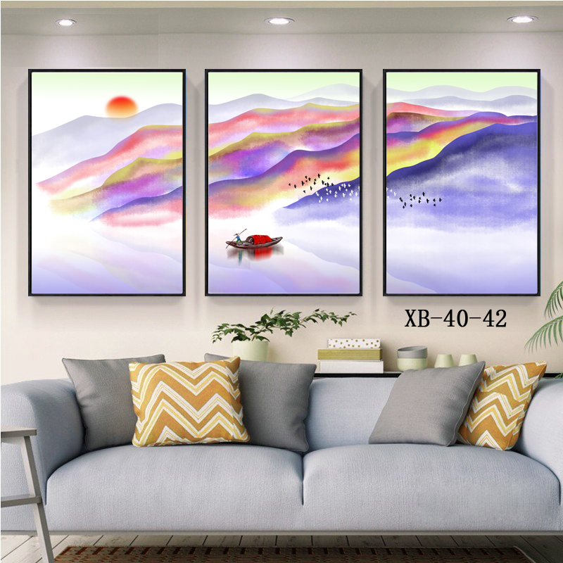 3 Panel Sea Boat Oil Painting Landscape Custom Frame Picture Canvas HD Printing Wall <strong>Art</strong>