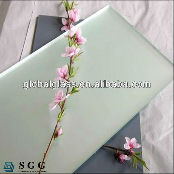 High quality noval glass frosted glass panels in china