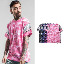 2017 camouflage with shark top tees printed short sleeve mens designer clothing wholesale