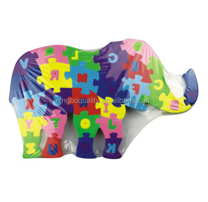 educational toy elephant foam jigsaw puzzle