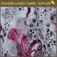 new fashion lace fabric wholesale printing mesh lace fabric flowers custom shoe laces print