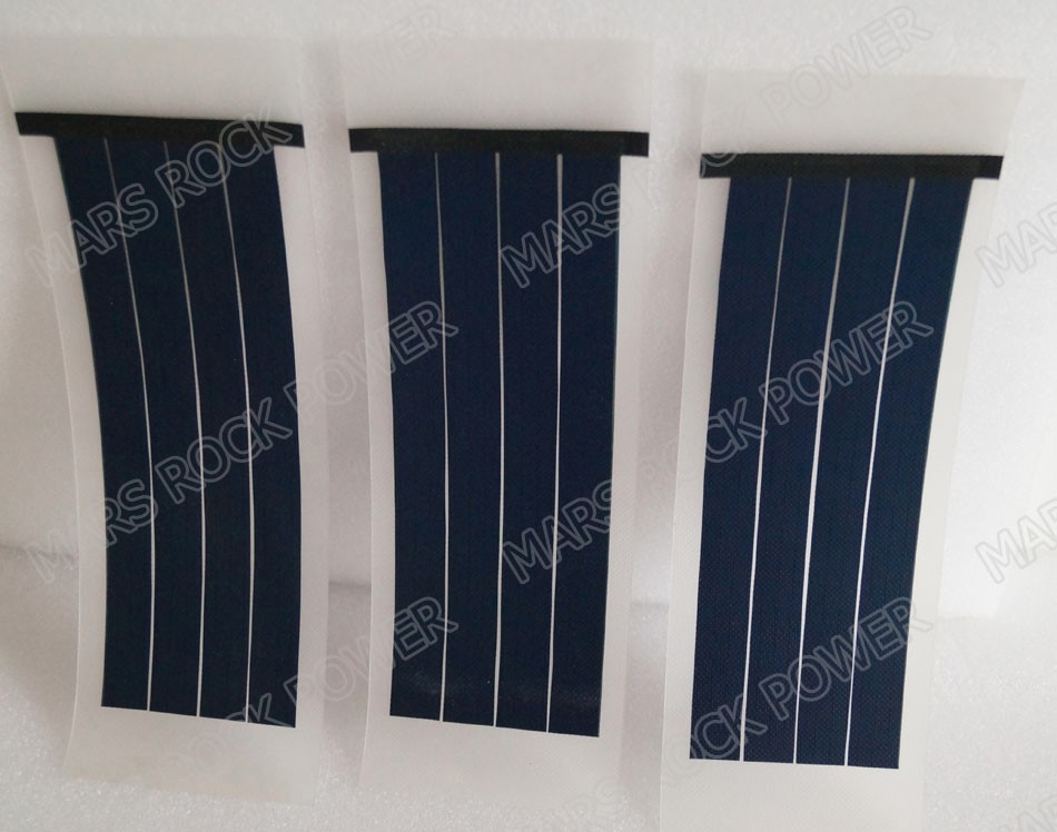 310x100mm 1.25W 6V Flexible Solar Panel Transparent Thickness Light Rollable Solar Panel