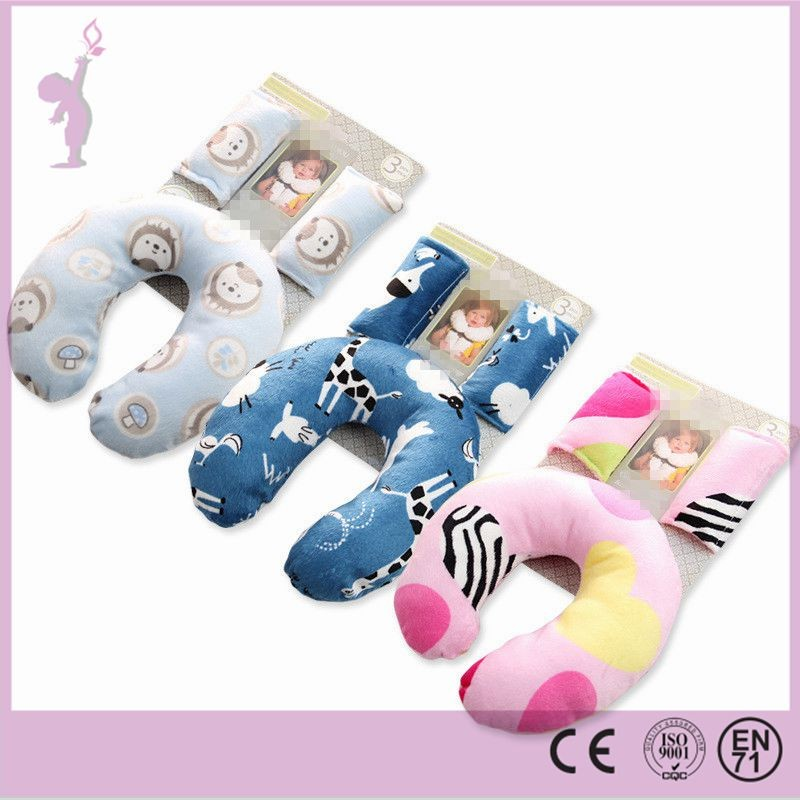 2017 Alibaba hot baby neck pillow car pillow set wholesale