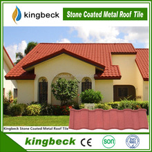 stone red color metal heat insulation aluminium zinc roofing sheets/terracotta stone tiles