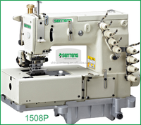 ST 1508 4-NEEDLE FLAT-BED DOUBLE CHAIN STITCH MACHINE WITH HORIZONTAL LOOPER MOVEMENT MECHANISM /INDUSTRIAL SEWING MACHINE