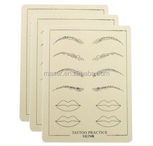 Hot sale rubber eyebrow lip tattoo fake skin cheap tattoo artificial skin, permanent makeup tattoo practice skin for starter