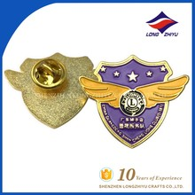 Gold plating wing shape with star lion badge