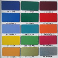 China interior and exterior aluminum composite panel decorating color chart