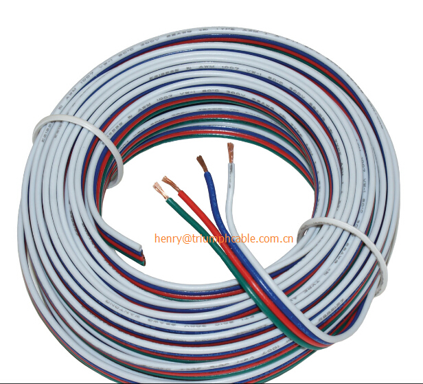4pins tinned copper wire,RGB extension cable wire, 22AWG LED strip electronic wire cable, DIY connect, 4 color 4 pins wire