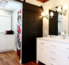 Custom Design Mahoangy Hanging Sliding Barn Doors