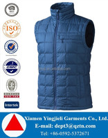 Popular Style Ultra Light Duck Down Vest For Men Navy Blue