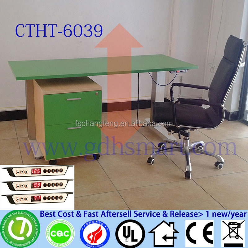 computer desk folding study table and chair industrial crank table green color