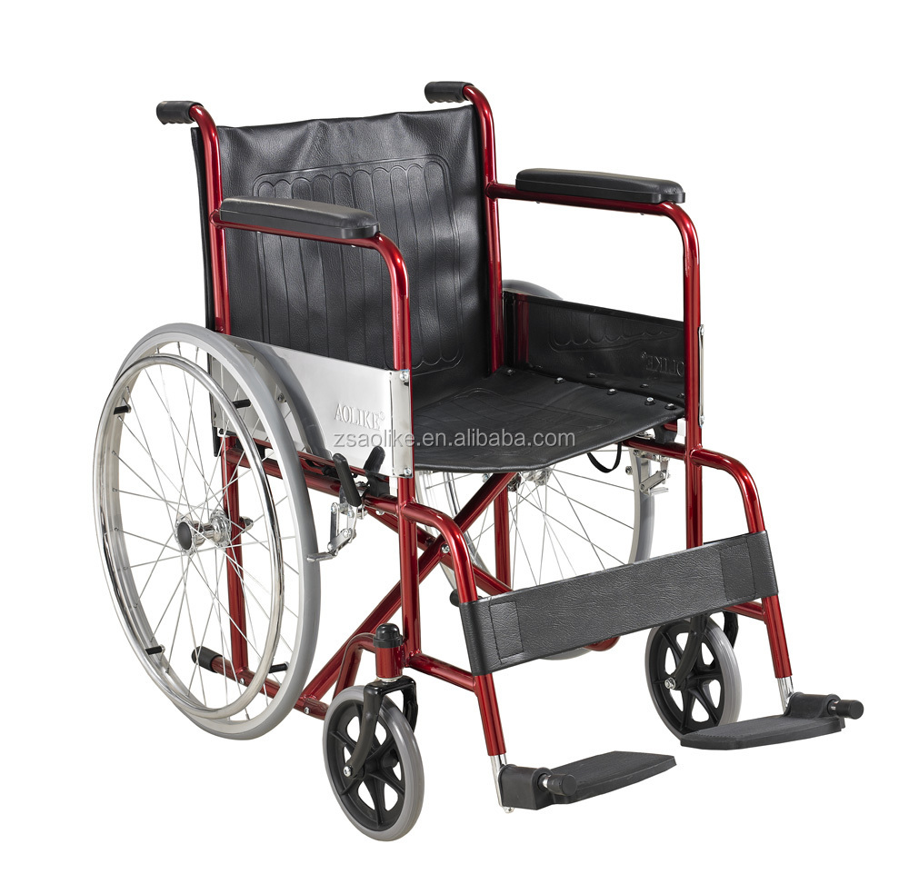 Steel foldable Economic cheapest wheelchair ALK809
