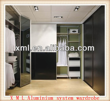 modern fashion design aluminum pole walk-in display closets
