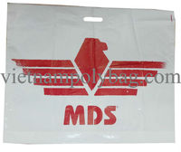 Custom patch handle poly plastic shopping bag made in Vietnam