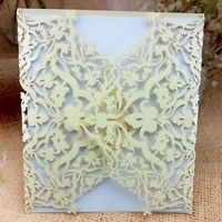 happy birthday invitation cards ,Laser cut birthday greeting cards with ribbon wholesale and retail