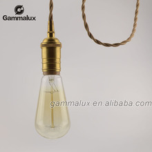 E27 E26 Brass Lamp Holder,Lamp Socket with Braided Wire,Pendant lamp Cord Set