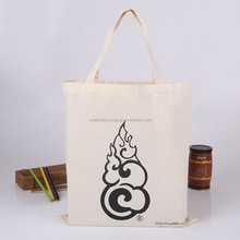 Promotional supermarket custom printed cotton canvas tote bag custom