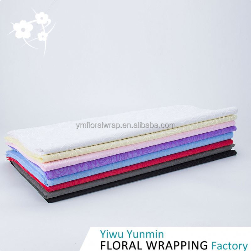 New Arrival unique design PP Non-woven Foaming Rose party decorate wrapping paper