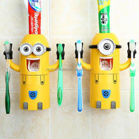 2 Designs Plastic Automatic Minion Toothpaste