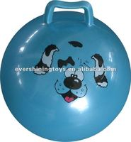 pvc jumping ball/quadrate handle ball/hopper balls