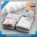 Encai Cat Printing Storage Packing Cube Set Travel Clear Laundry Pouch 5pcs Set