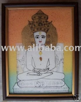 Adinath-Jain Trianthkar, Painting made with Gem Stones