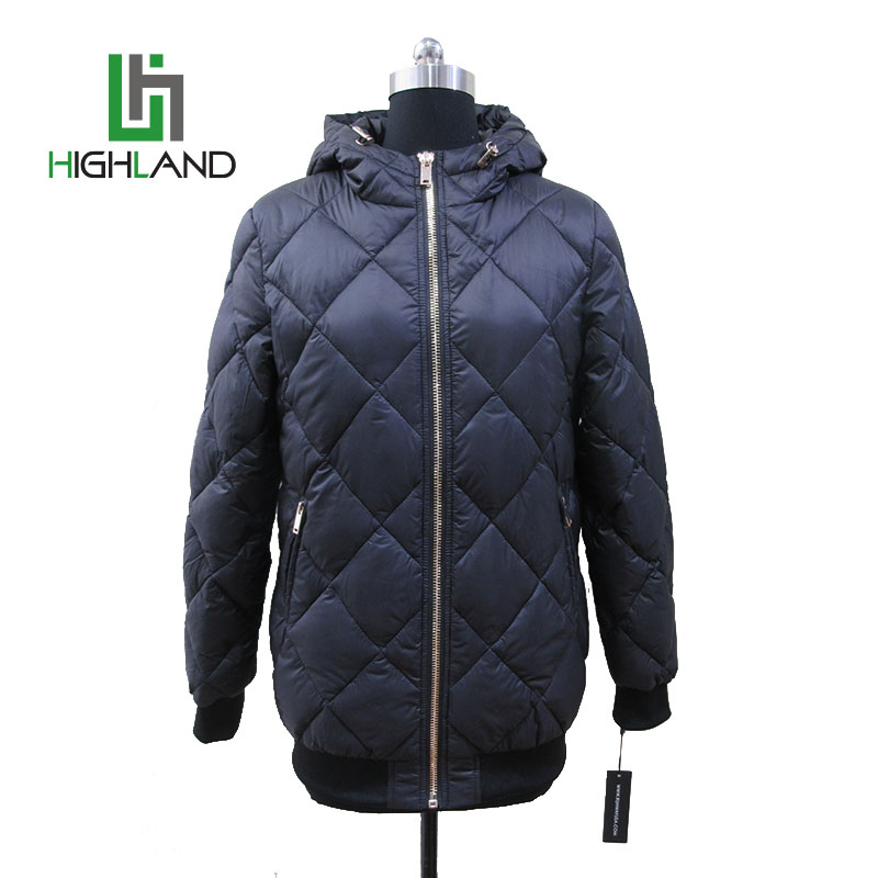 Last fashion woman jacket winter coat hood coat